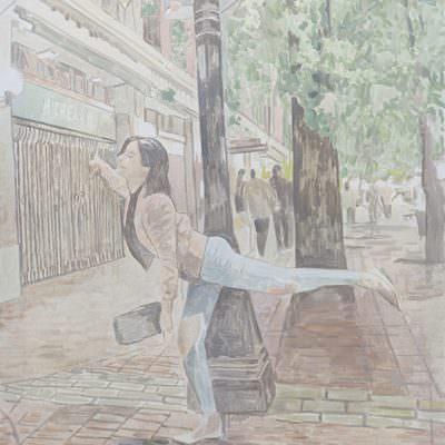 [A0555-0032] Dancing girl
