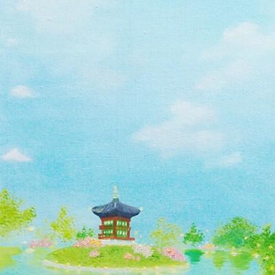[A0565-0016] 경복궁의 향원정은 맑음