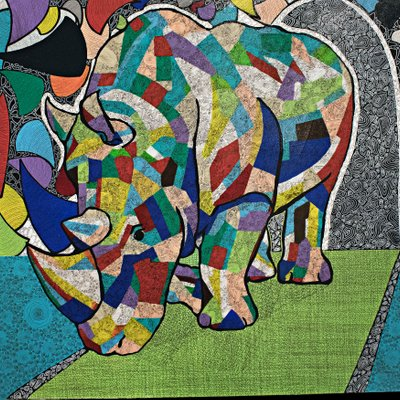 [A0574-0011] 밀렵꾼을 피해가는 흰코뿔소