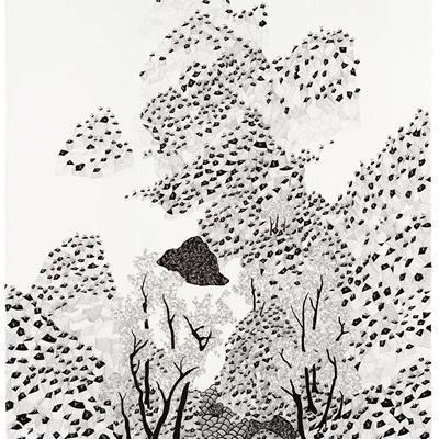 [A0592-0025] 더미 산수화 #2 (Dummy Landscape #2)
