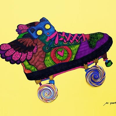[A0611-0014] 달콤한 롤러 스케이트