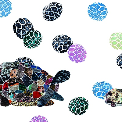 [A0632-0008] A PAIR OF TORTOISES   거북이 한 쌍