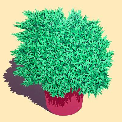 [A0651-0046] Bigger Plastic Plant 1
