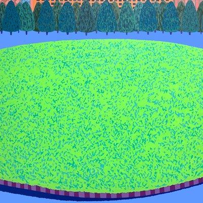 [A0651-0051] 둥근 잔디 광장
