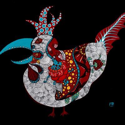 [A0677-0024] 무섭 닭