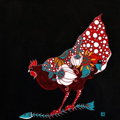 [A0677-0025] 붉은닭