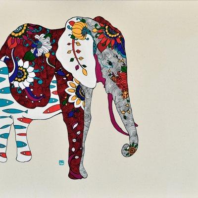 [A0677-0033] 아름다운 코끼리