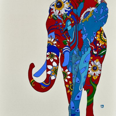 [A0677-0036] 코끼리의 행복