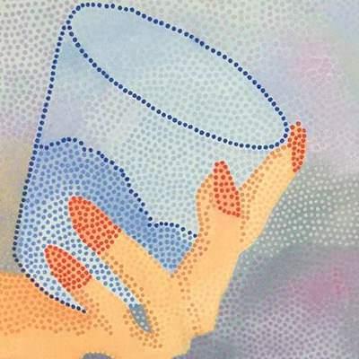 [A0702-0011] 물컵을 든 손