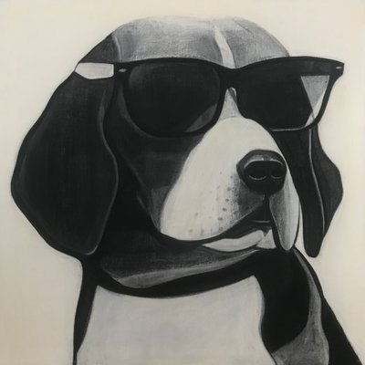 [A0709-0016] Black dog series_Beagle