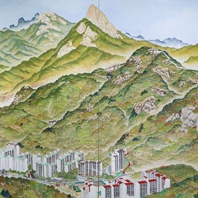 [A0710-0001] 안산에서 바라본 인왕 백악 삼각산