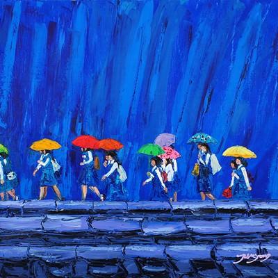 [A0712-0043] 비오는 날의 등교길