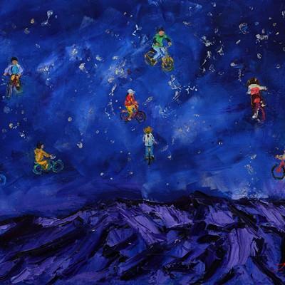 [A0712-0046] starlit night