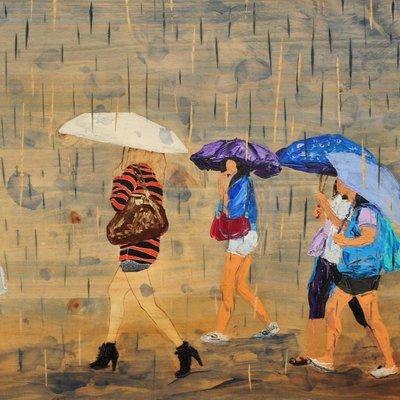 [A0712-0132] 비오는 날의 수채화