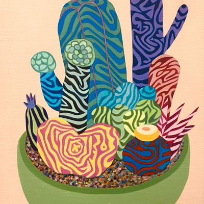 [A0729-0148] Colorful Cactus