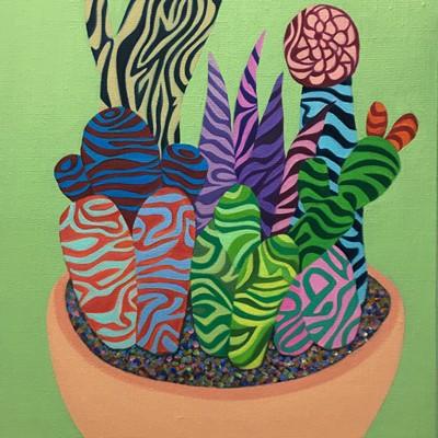 [A0729-0149] Colorful Cactus