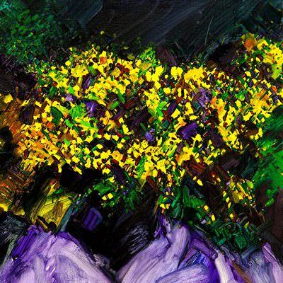 [A0753-0009]  흩어지는 노랑