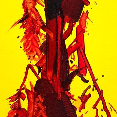 [A0753-0027] 붉은 꽃