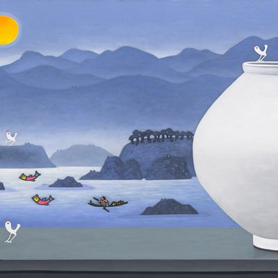 [A0763-0020] 달항아리가 있는 풍경