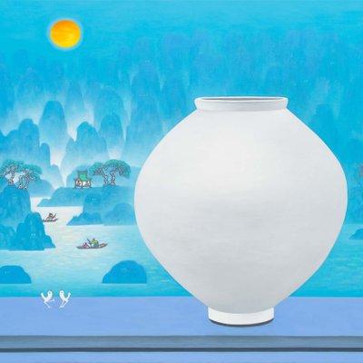 [A0763-0045] 달항아리가 있는 풍경