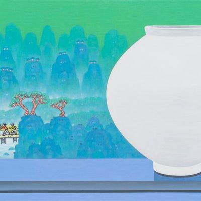 [A0763-0060] 달항아리가 있는 풍경