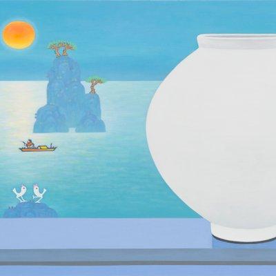 [A0763-0061] 달항아리가 있는 풍경