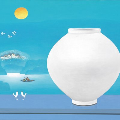 [A0763-0080] 달항아리가 있는 풍경