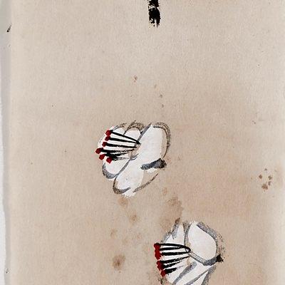 [A0770-0042] 꽃이 바람에 날리운다