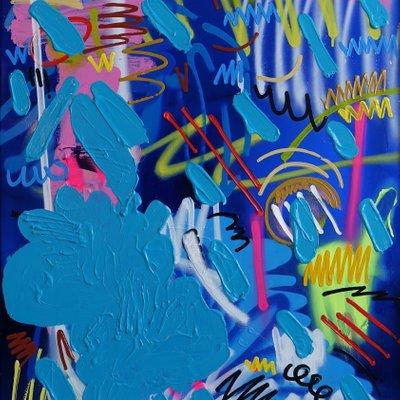 [A0814-0017] self-portrait in blue