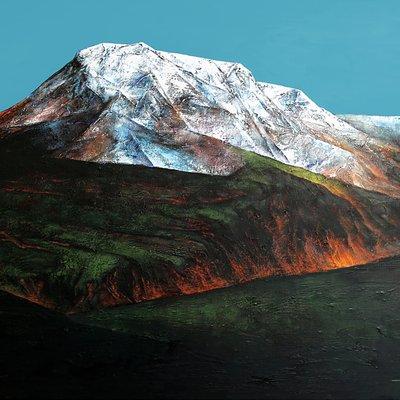 [A0846-0002] Mountain of Silence Ⅰ