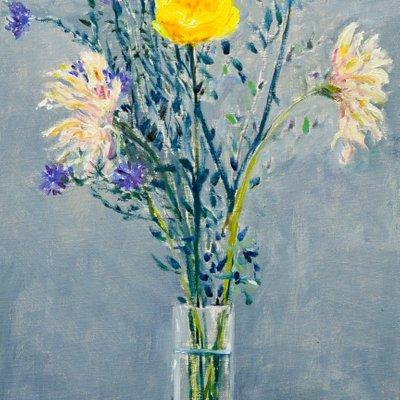 [A0851-0014] 노란꽃이 있는 정물