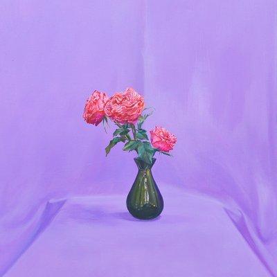 [A0851-0015] 보라색 배경의 꽃