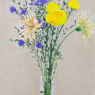[A0851-0020] 노란꽃이 있는 정물