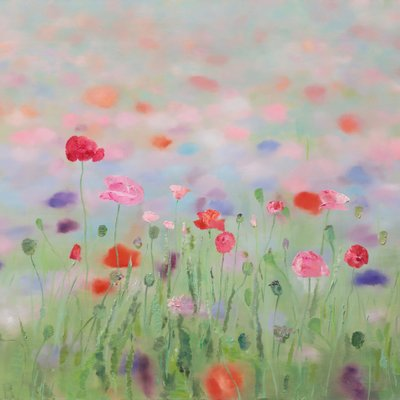 [A0865-0018] Natural Image(Poppy garden)