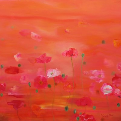 [A0865-0020] Winday day (Poppy garden) II