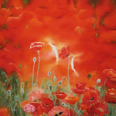 [A0865-0023] Natural  Image (Poppy garden)