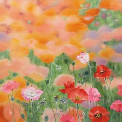 [A0865-0025] Natural  Image (Poppy garden)