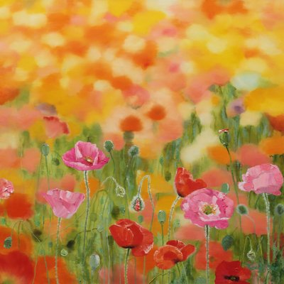 [A0865-0026] Natural  Image (Poppy garden)