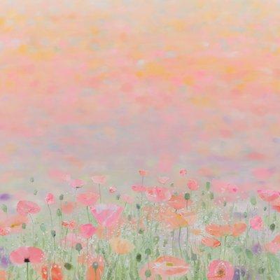 [A0865-0035] Windy day (Poppy garden)