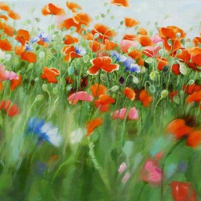 [A0865-0042] Natural Image(Poppy garden)