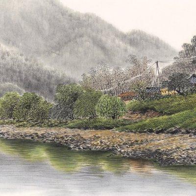 [A0952-0009] 강가의 추억