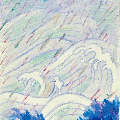 [A0997-0013] Drawing : 비 오는 날
