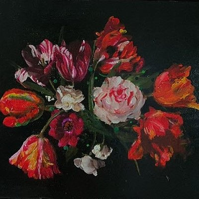 [A1006-0033] 시간의 연속성 -붉은꽃(the Continuation of Time Red Flowers)