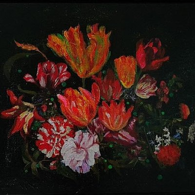[A1006-0035] 시간의 연속성 -붉은꽃(the Continuation of Time Red Flowers)
