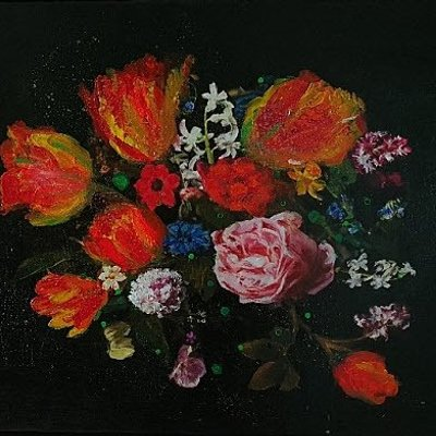 [A1006-0036] 시간의 연속성 -붉은꽃(the Continuation of Time Red Flowers)