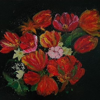 [A1006-0037] 시간의 연속성 -붉은꽃(the Continuation of Time Red Flowers)