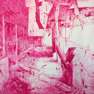[A1008-0011] Vivid Pink Pebeo oil color 37ml 20180531