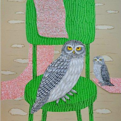 [A1016-0022] 자연의자 - bird