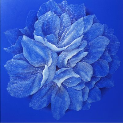 [A1023-0001] The Silver Wave_Blue Flower 2015-1
