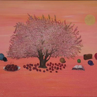 [A1041-0007] 행복한  벚나무 아래서 -휴식